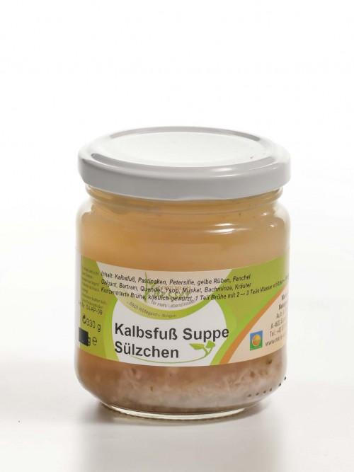 Kalbsfuß Suppe Sülzchen